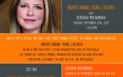 September 12th, 2017 @ 7pm – Deborah MacNamara, Understanding Young Children