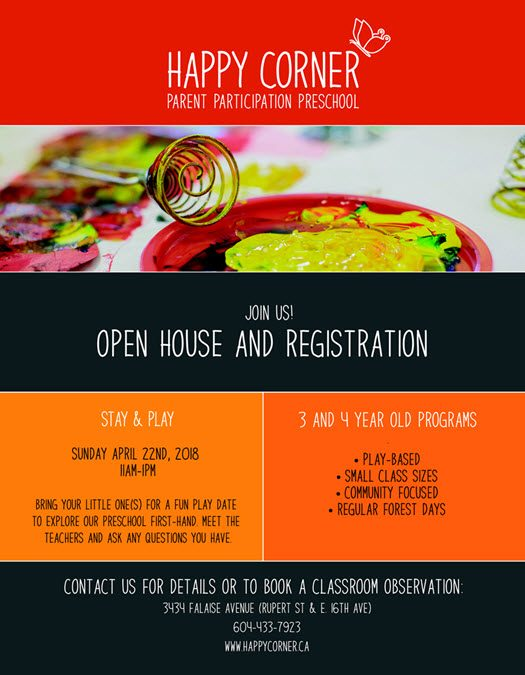 Happy Corner Open House and Registration – Join Us!
