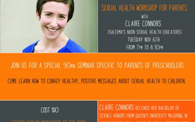 November 13th, 2018 @ 7pm, Claire Connors – Sexual Health Workshop